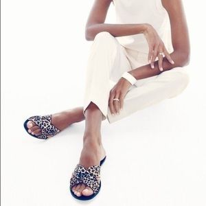 Leopard Cora cross cross sandals